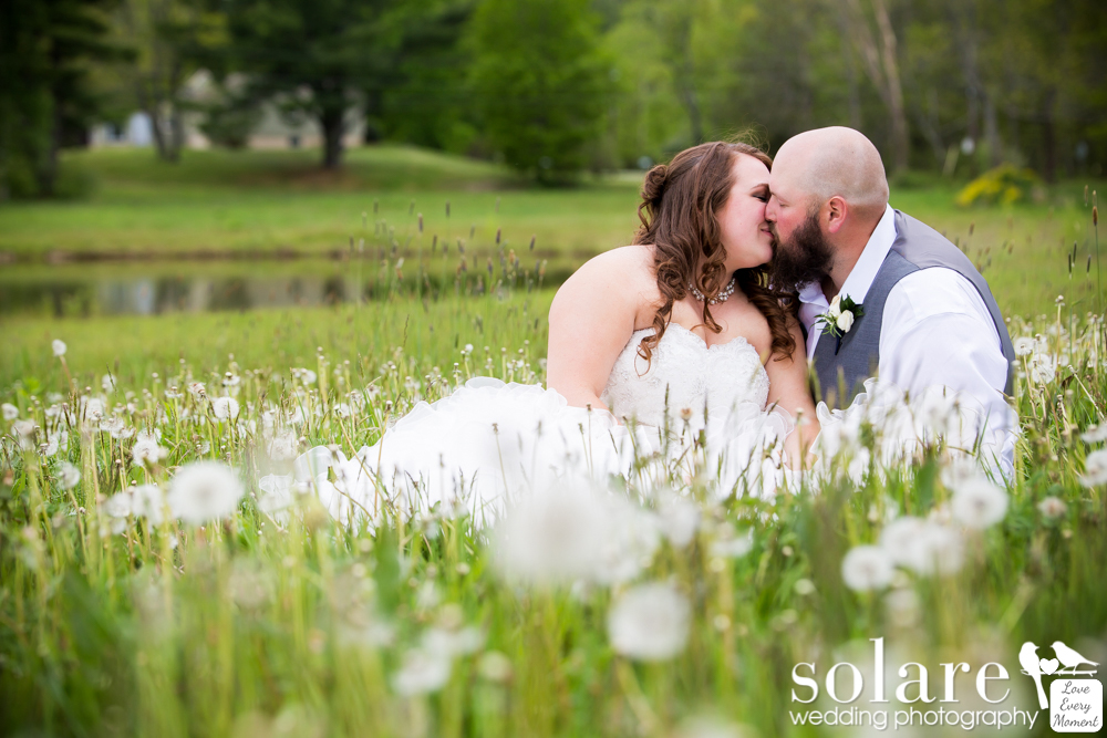 Flag Hill Winery Lee New Hampshire Wedding Bride and Groom Portraits
