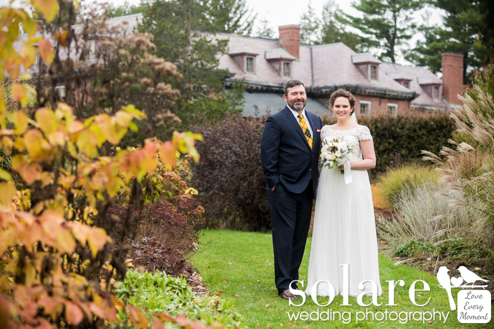 Elm Bank Wedding Wellesley MA Bride and Groom Portraits Bressingham Garden