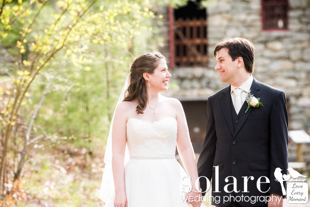 Longfellows Wayside Inn Wedding Sudbury MA Grist Mill Bride and Groom Portraits