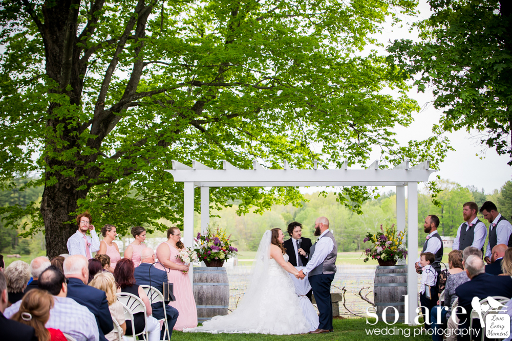 Flag Hill Winery Lee New Hampshire Wedding Outdoor Ceremony