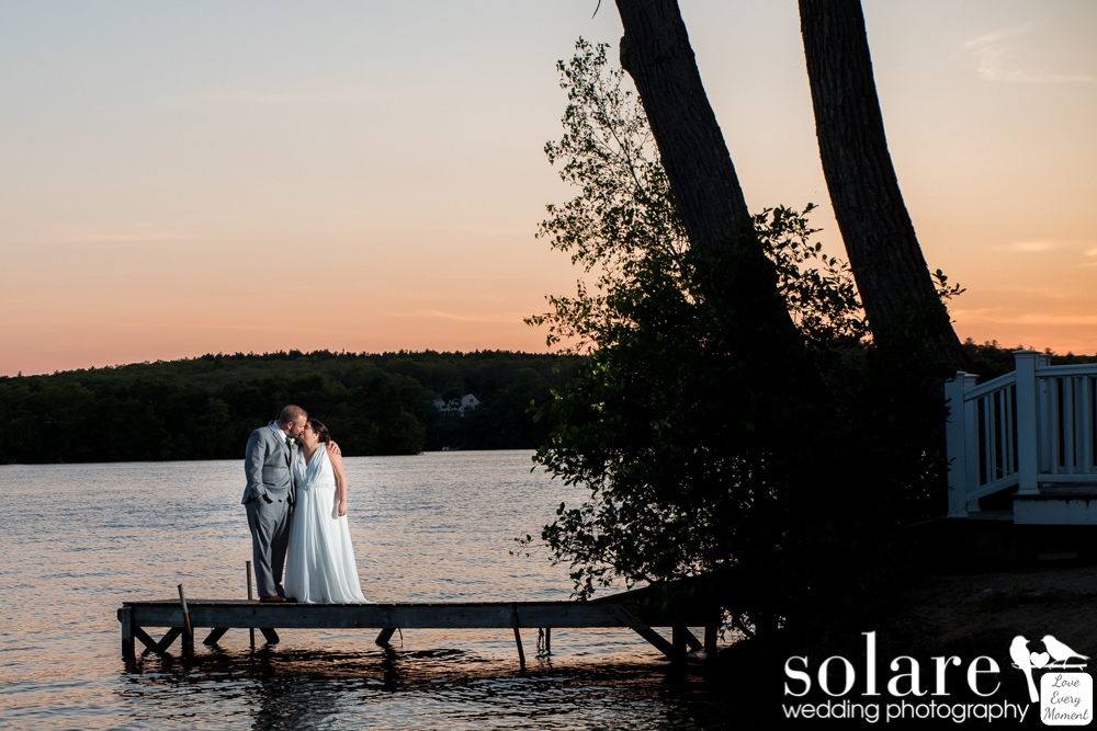 Lake Pearl Outdoor Wedding Bride and Groom Portraits