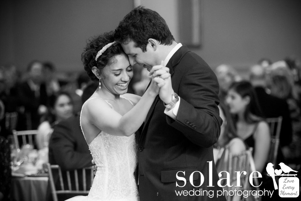 Sheraton Commander Wedding Cambridge MA bride and groom first dance