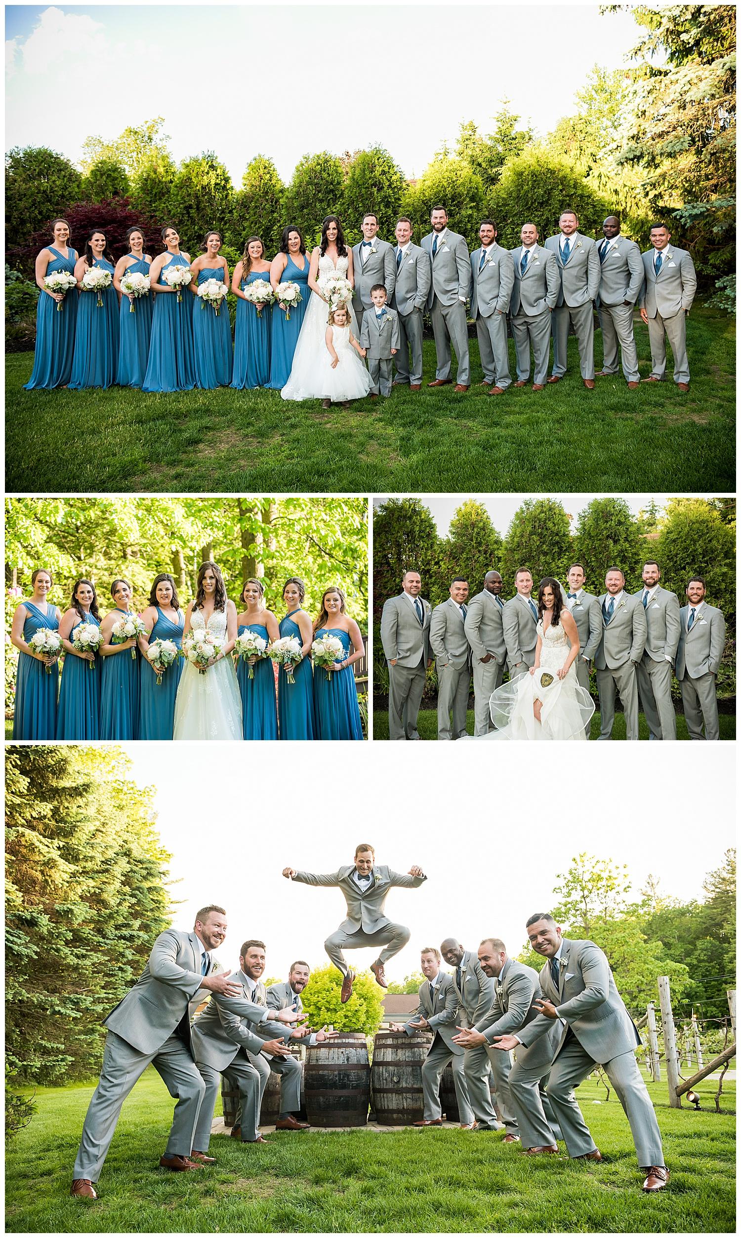 Birch Wood Vineyards Wedding Party Photos