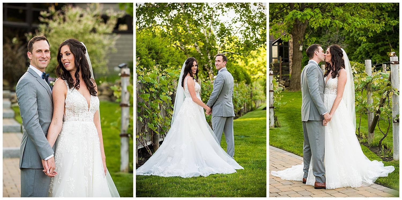 Birch Wood Vineyards Wedding Bride and Groom Portraits