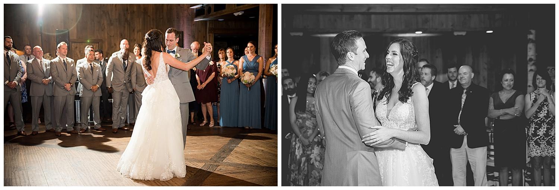 Birch Wood Vineyards Wedding Reception First Dance
