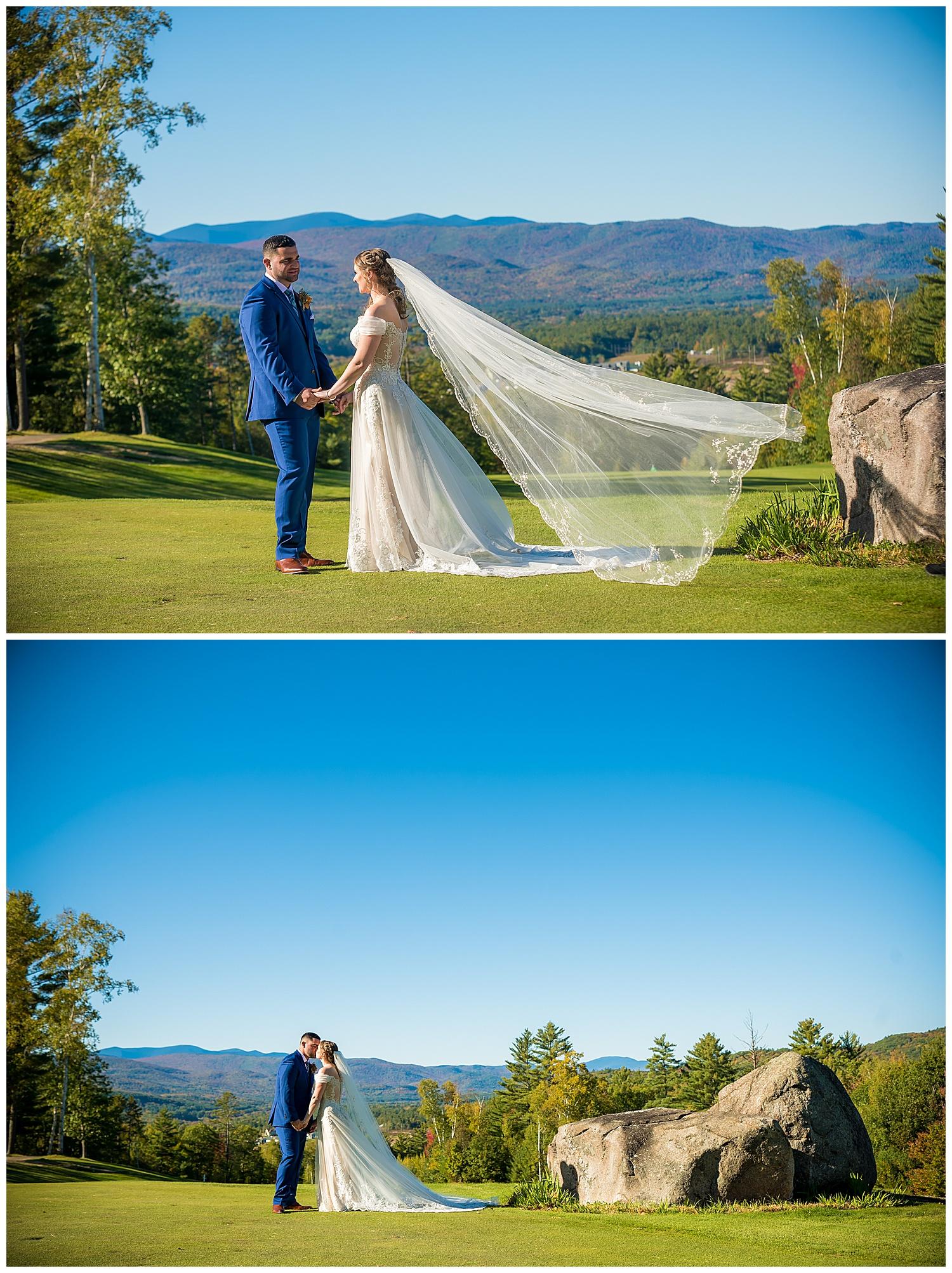 Owl's Nest White Mountain Wedding - Bride & Groom Mountain View Portraits
