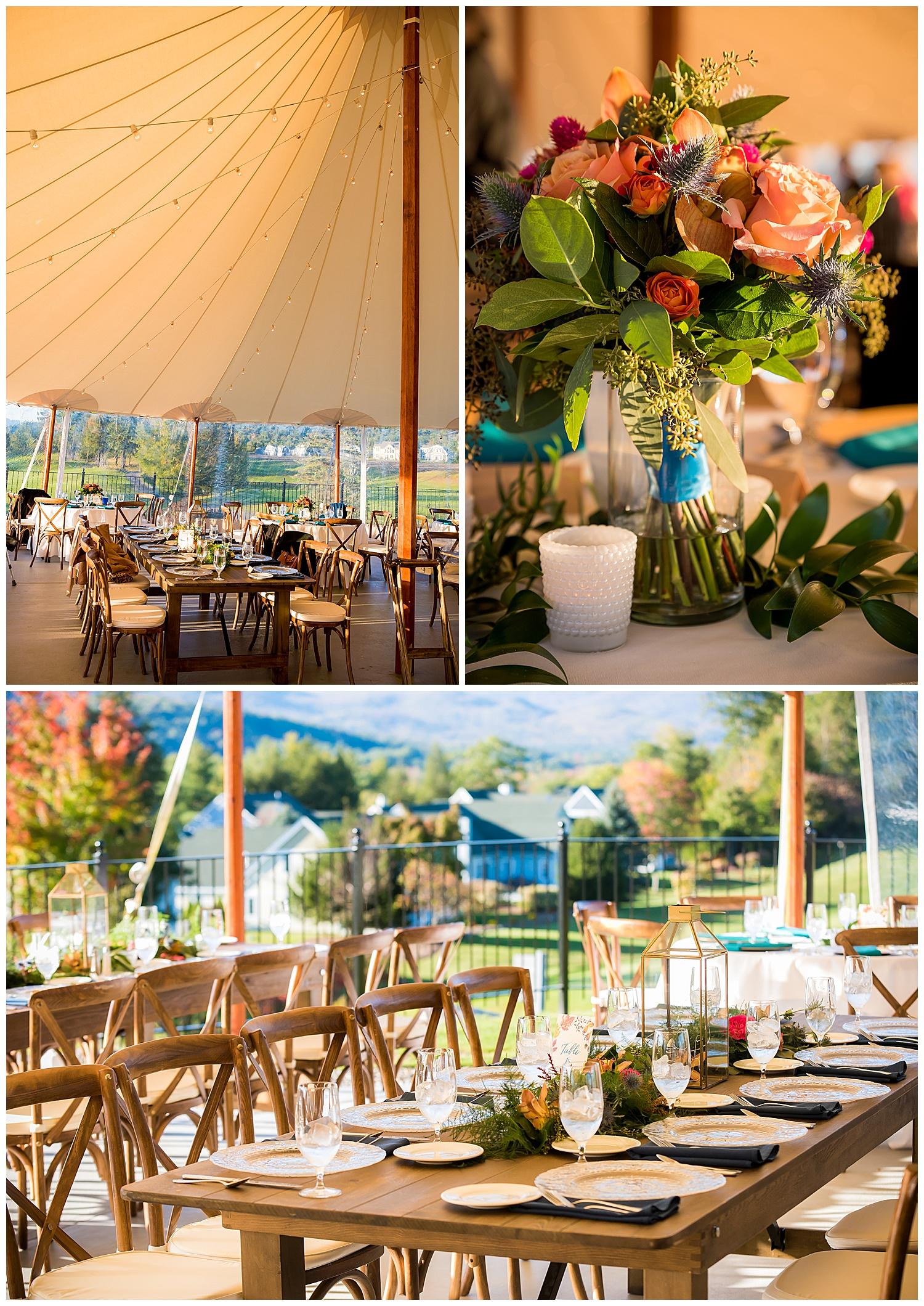 Owl's Nest White Mountain Wedding - Sailcloth Tent