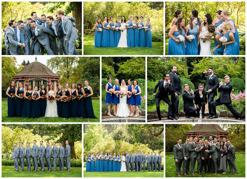 Moraine Farms Wedding Party Portraits