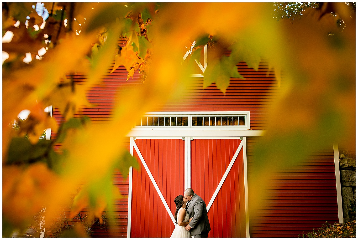Backyard Wedding in New Hampshire. Fall wedding in NH. Barn wedding in NH.